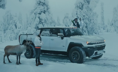 gmc hummer ev with awkwafina