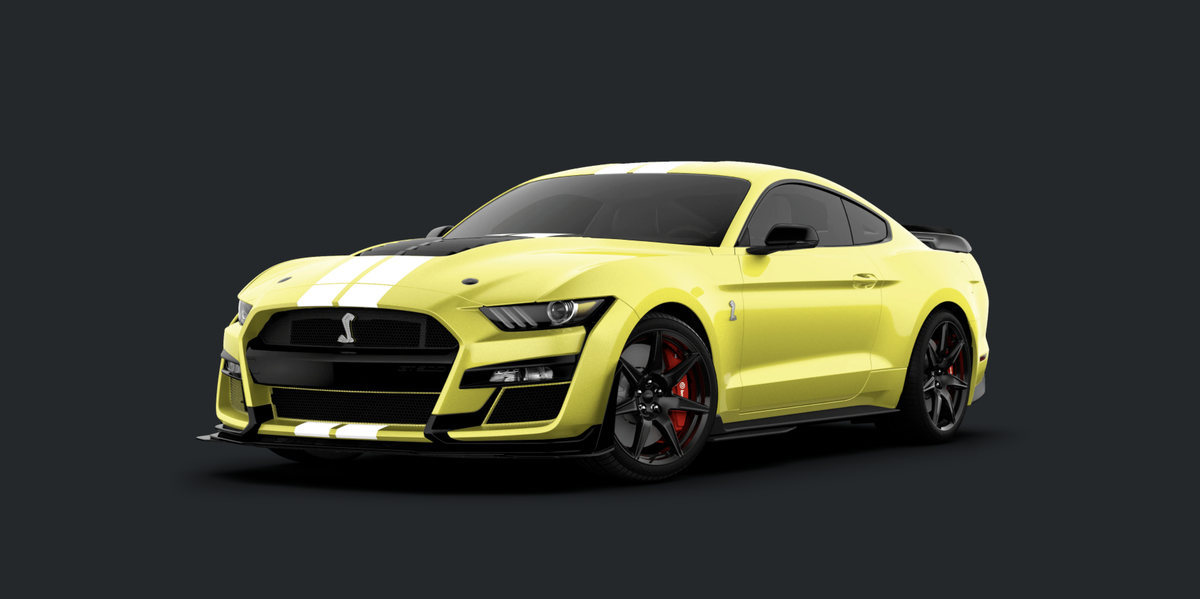 2021 Ford Mustang Shelby GT500 Adds Carbon Fiber, Flashy Colors - Yahoo! Voices