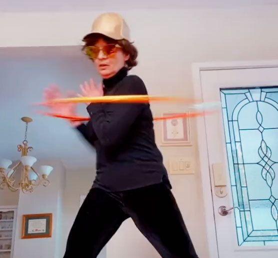 viral hula hoop tiktok video