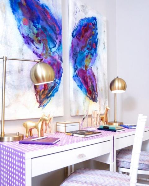 wallpaper decor ideas desk