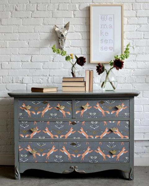 wallpaper decor ideas dresser