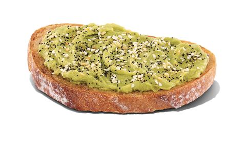unique fast food menu item dunkin avocado toast