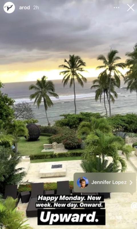 Alex Rodríguez Upward Instagram