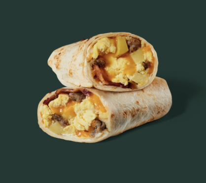 starbucks  bacon, sausage  egg wrap