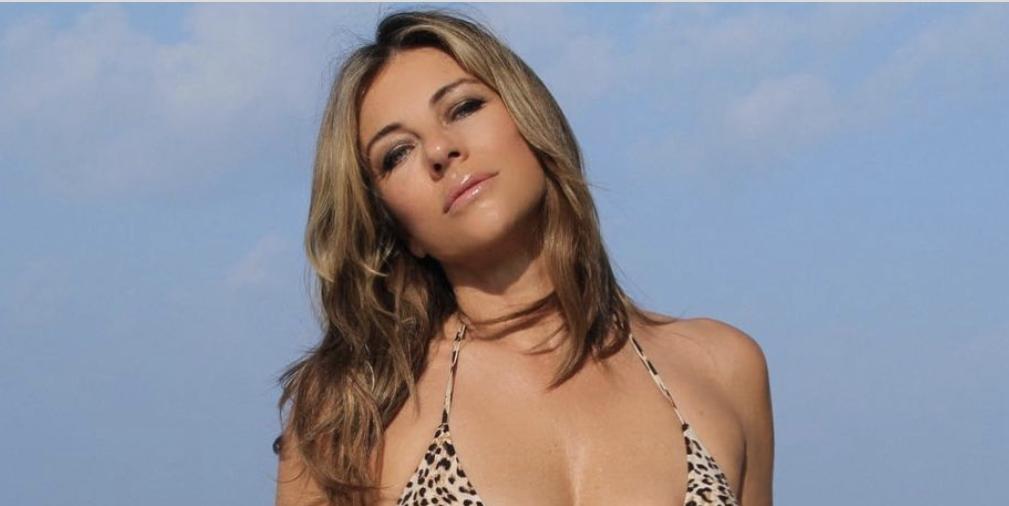 Elizabeth Hurley Flaunts Super-Toned Abs In 'Favorite Bikini'
