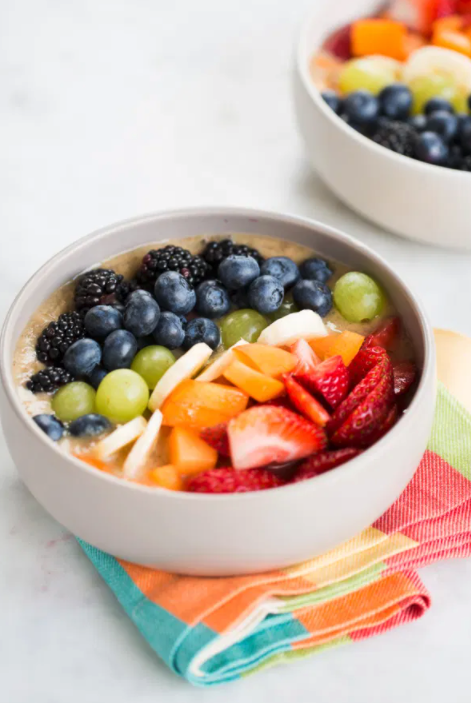 bowl with numerous fruits