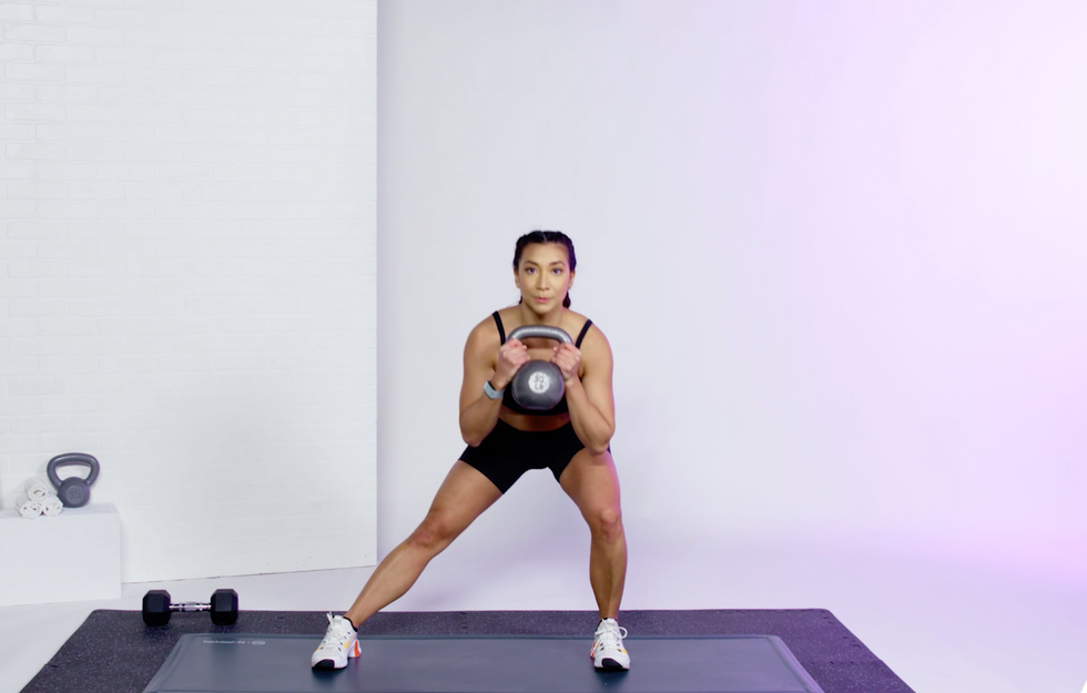This 20-Minute Kettlebell Cardio Workout Video Will Get Your Heart Pumping