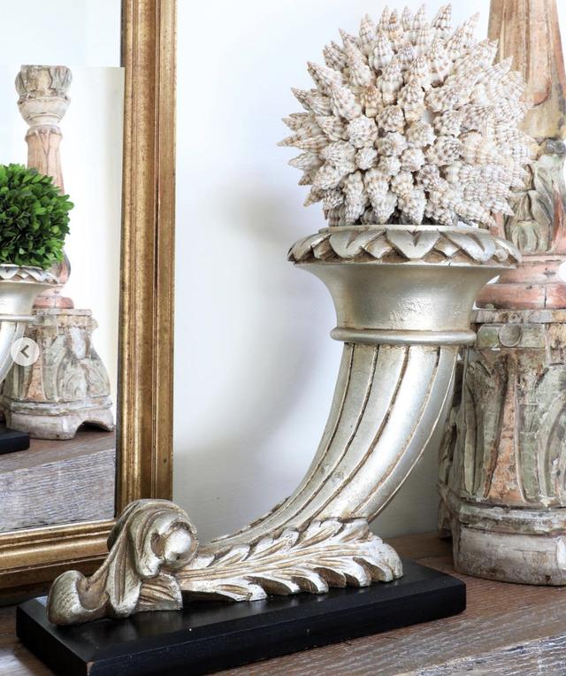 seashells in a planter