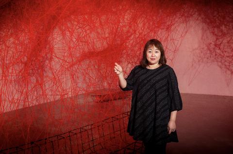 塩田千春 展覽 台灣 北美館 顫動的靈魂