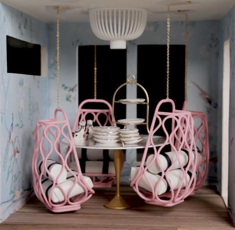 dining room, dollhouse
