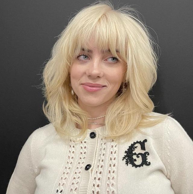 billie eilish cardigan blonde hair