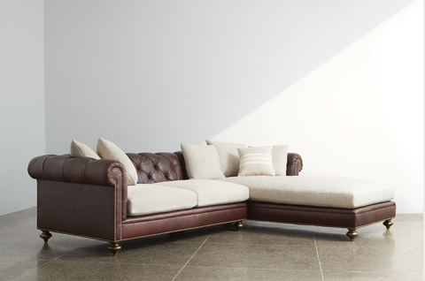 chesterfield sectional by alfredo paredes for ej victor