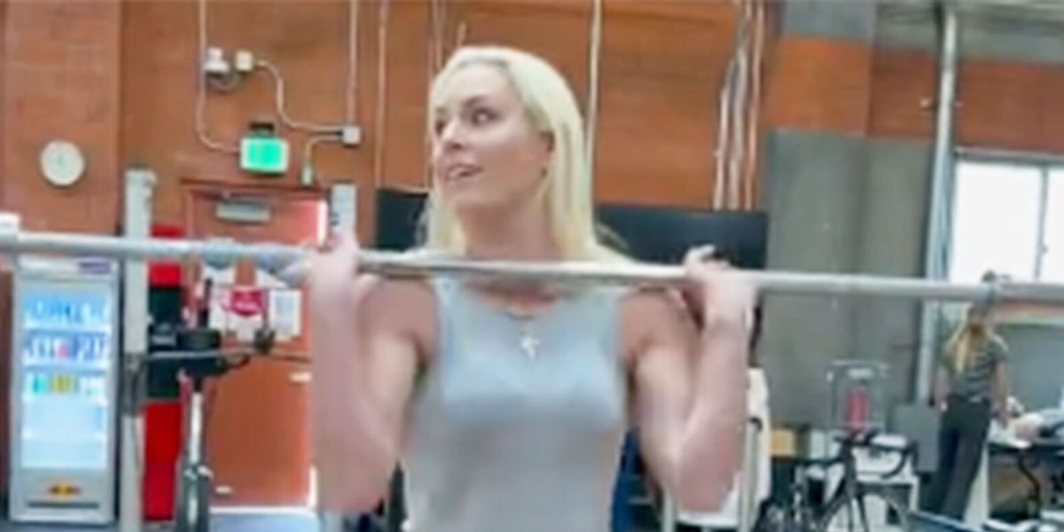 Lindsey Vonn and Her Sculpted Abs Just Crushed an Intense Workout in Jeans and Heels