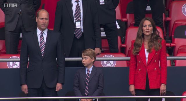 prince george, suit and tie,  england, euros football match
