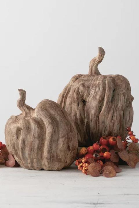 woodlike pumpkins