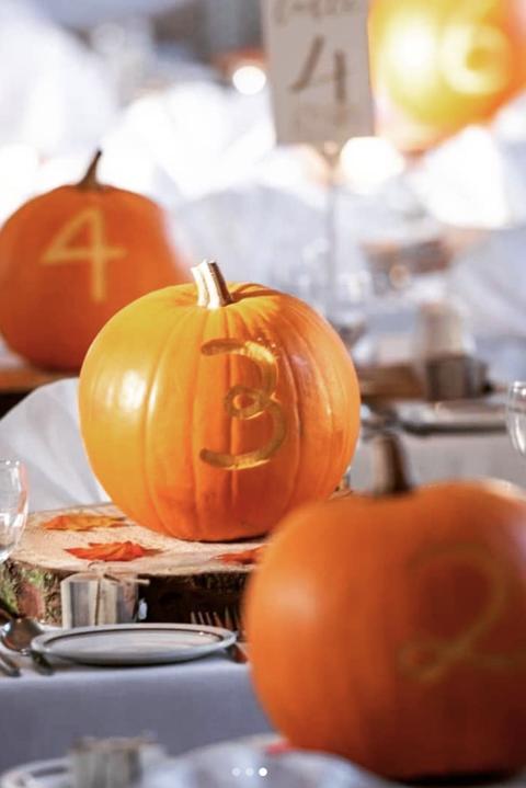 pumpkin table numbers