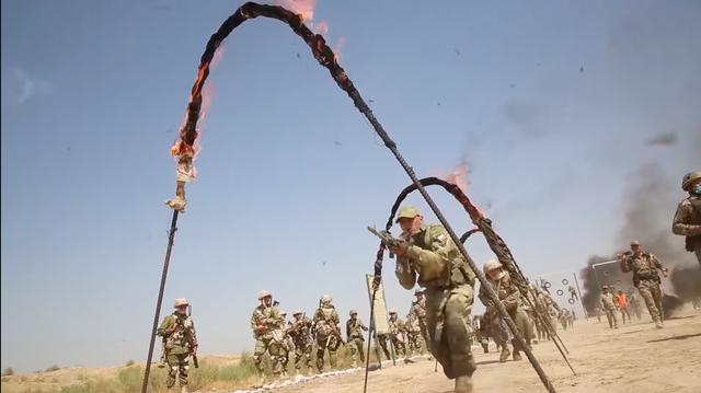 flaming hoop spetsnaz uzbekistan