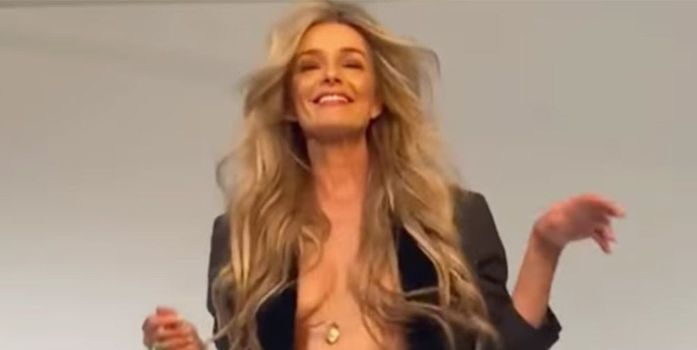 At 56, Paulina Porizkova Shows Off Her Sculpted Bod In A New BTS Video From Her 'Los Angeles Magazine' Shoot