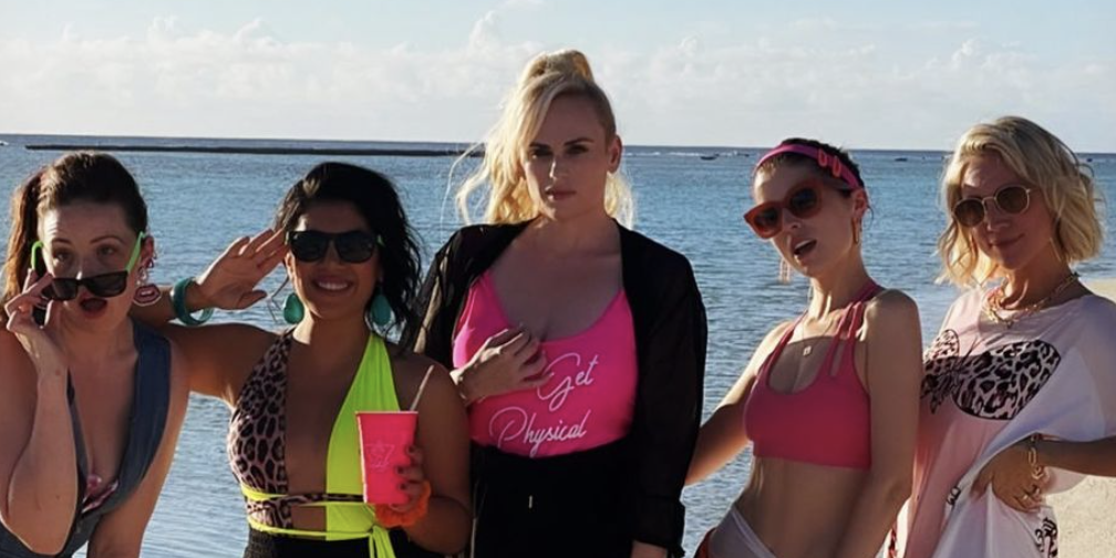 Rebel Wilson Reunites With The Bellas for Her 41st Birthday Bash On A Private Island And It's Everything