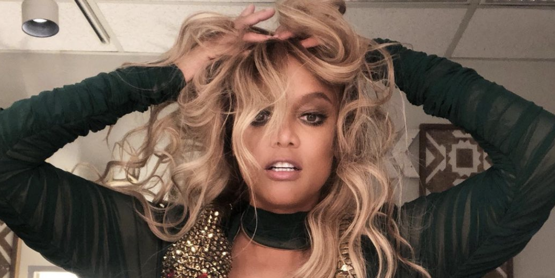 At 47, Tyra Banks Shows Off Her Totally Toned Abs And Legs In Two Britney Spears-Inspired Outfits On 'DWTS'