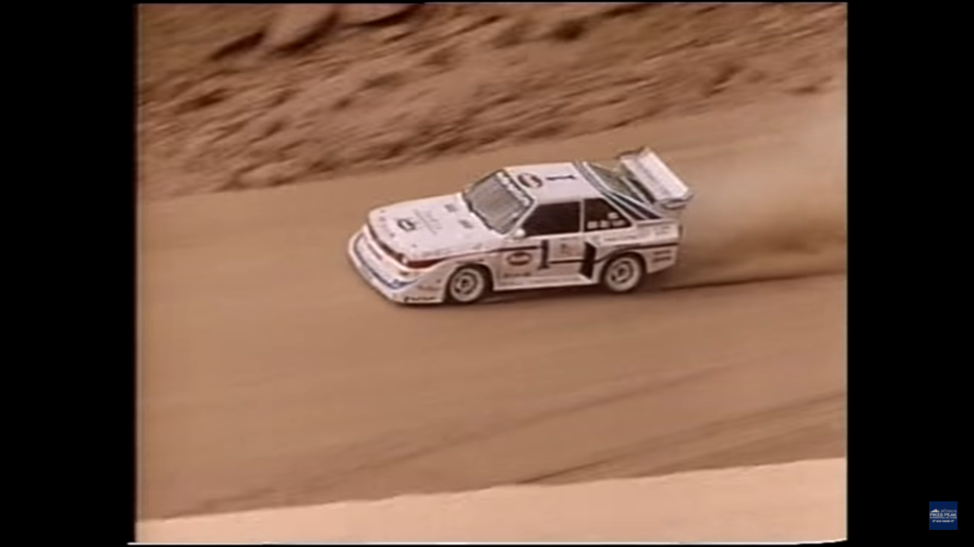 Watch Bobby Unser Set a Pike's Peak Record in an Audi Quattro