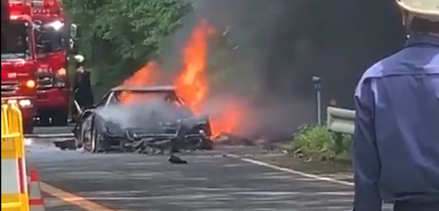 an f40 burnt to the ground