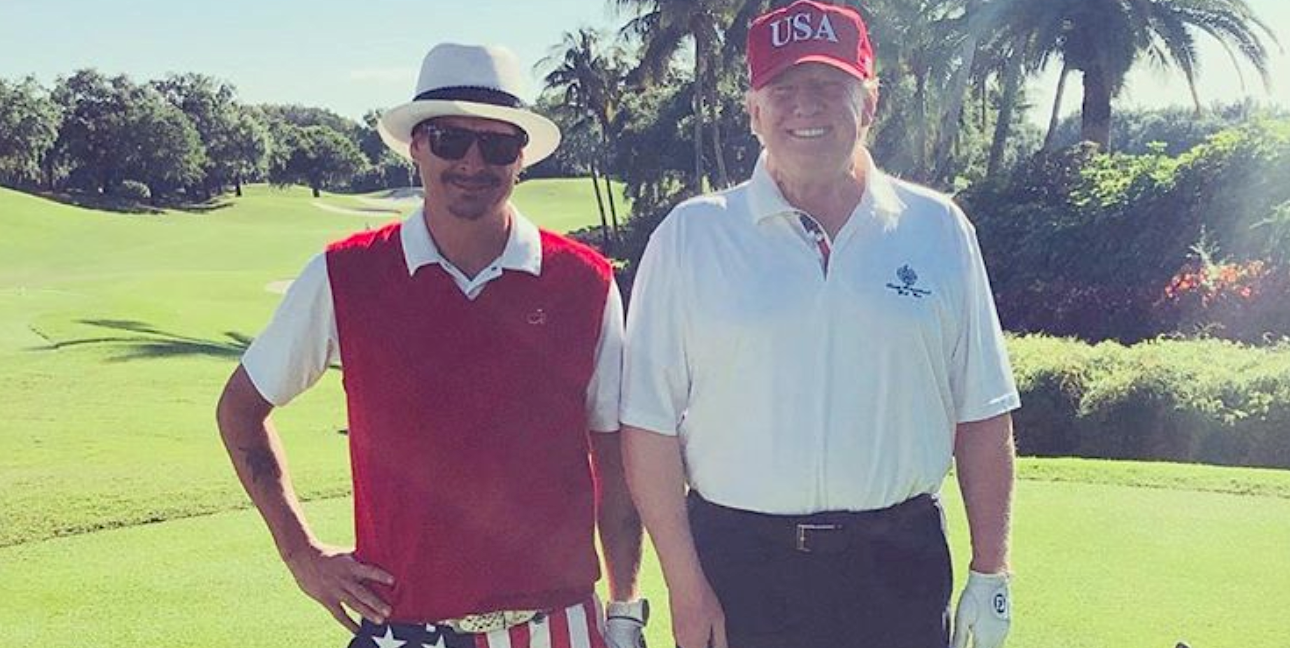 As the nation waited to learn the Mueller report's findings, Trump hit the links with one of his biggest celebrity supporters.