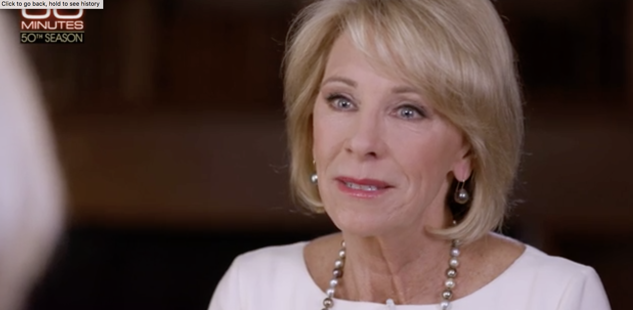 Betsy Devos 60 Minutes Interview Lesley Stahl Laughs At Betsy