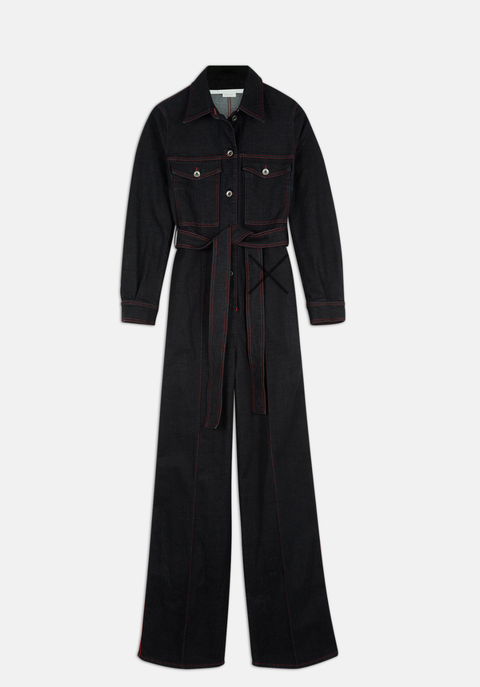 moda jeans 2019, tendenza jeans 2019, tute di jeans, boilersuit