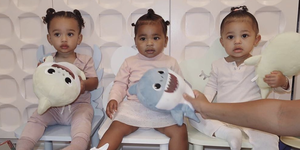 You've never seen anything cuter than Stormi, Chicago and True looking like triplets