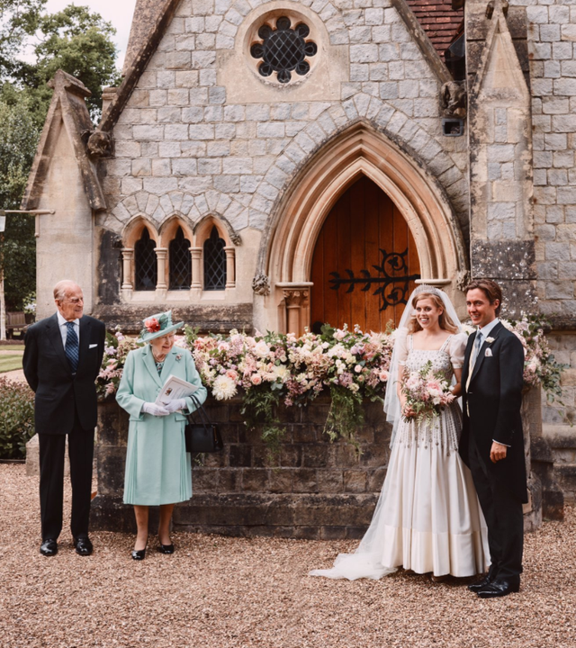princess beatrice wedding with the queen and prince philip