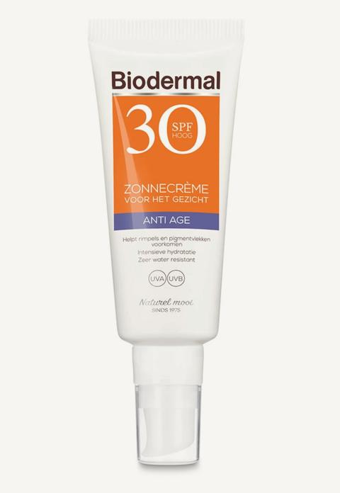 biodermal anti age zonnecrème gezicht spf 30   zonnebrand
