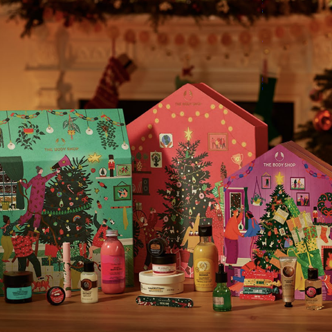 the body shop unveils three gorgeous advent calendars for every budget