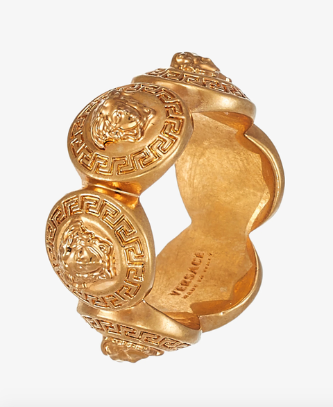 guodkleurige versace ring