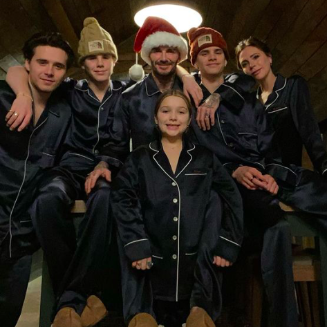 the beckhams family album, from holidays to cosy nights in