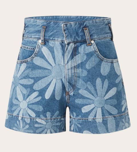 sandro denim shorts