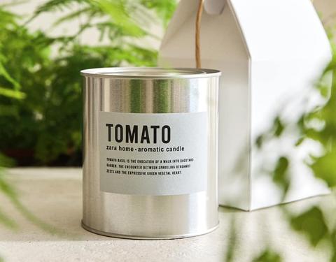 zara home candle tomato