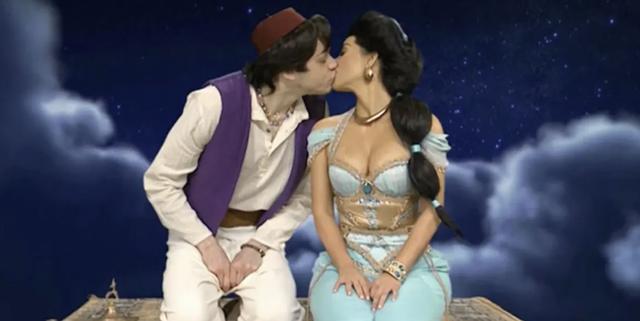 Kim Kardashian kisses Pete Davidson in Disney sketch on SNL