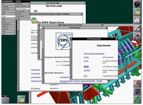 early internet web browser berners-lee cern