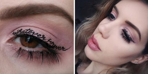 Temporary tattoo eyeliner is the