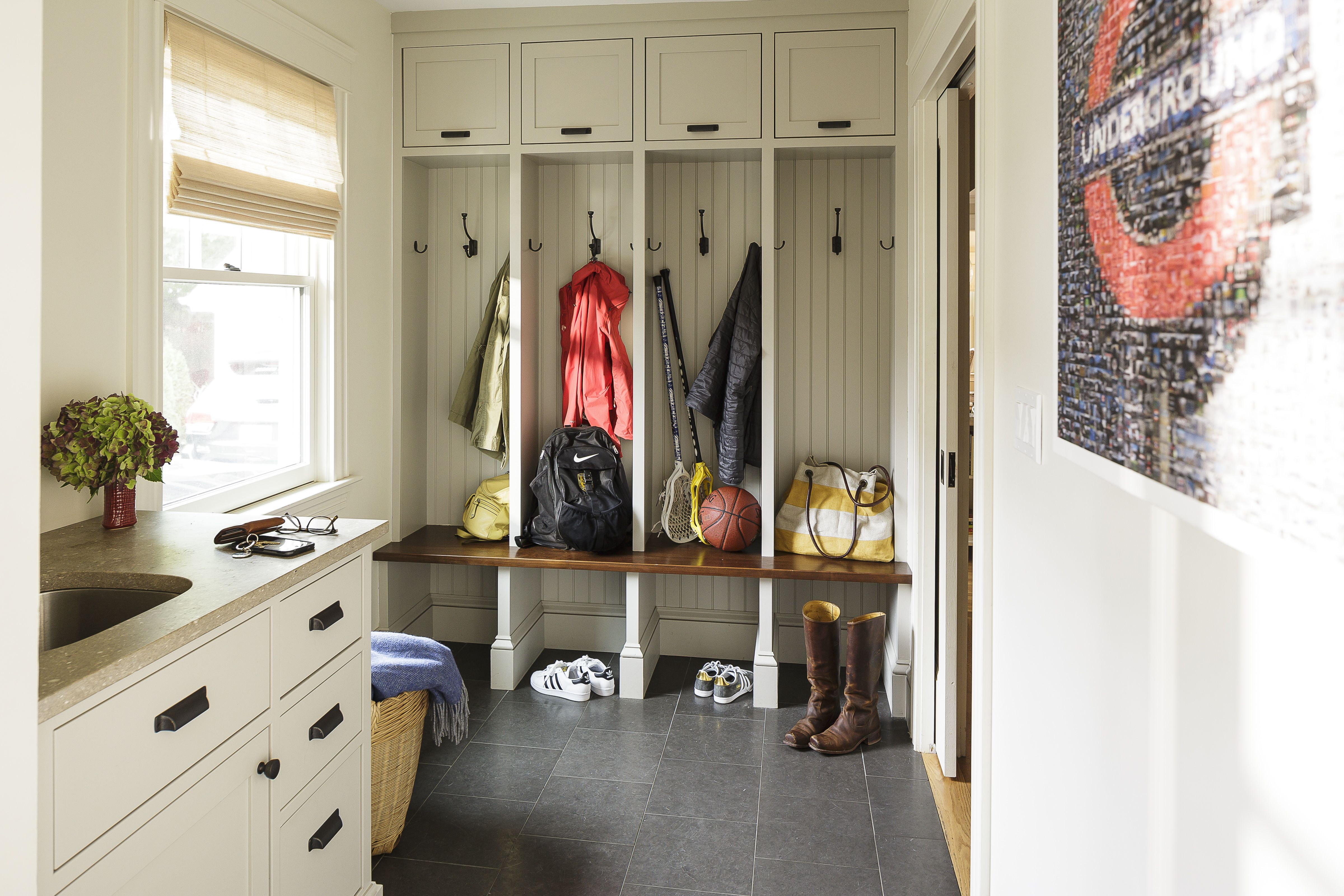 27 Smart Mudroom Ideas - Stylish Mudroom Benches & Storage on security system layout, furniture layout, recipes layout, art layout, laundry room layout, fall layout, exercise room layout, pattern layout, books layout, sunroom layout, halloween layout, foyer layout, family room layout, carpet layout, ikea layout, landscaping layout, food layout, flowers layout, summer layout, green layout,