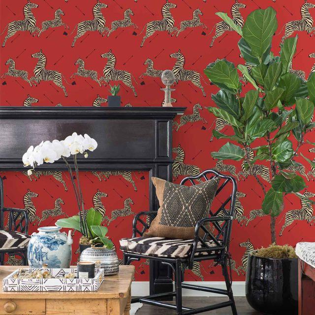 red zebra wallpaper