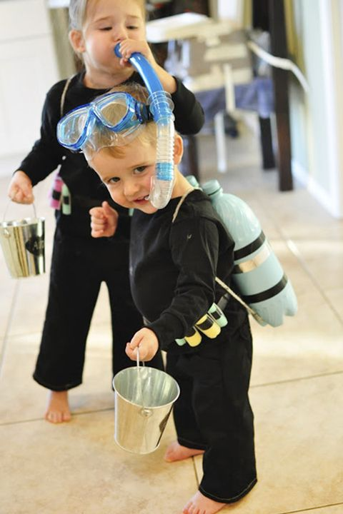 scuba diver homemade halloween costume