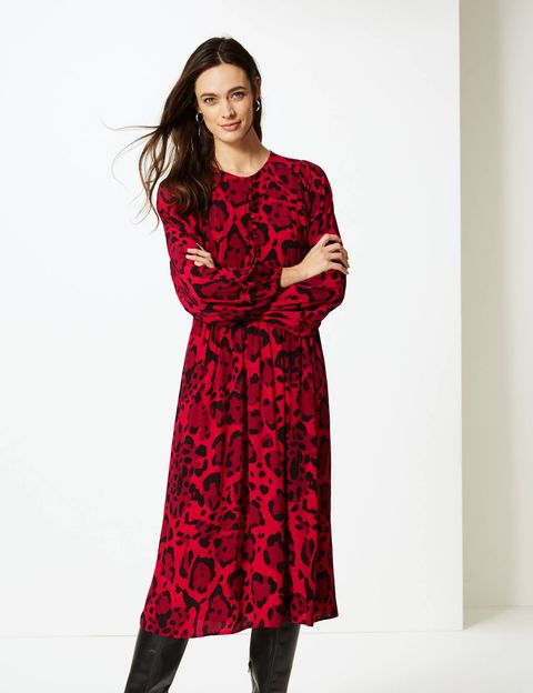 1202b0e25015 Marks & Spencer releases new animal print dress in a festive red