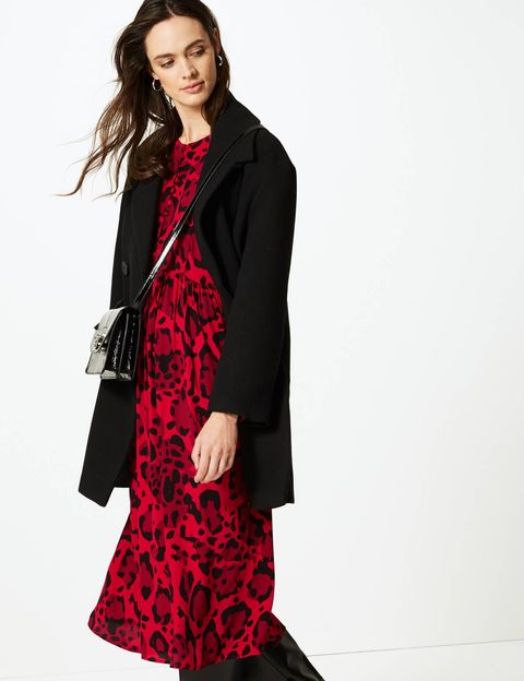 Marks & Spencer animal print dress of the week
