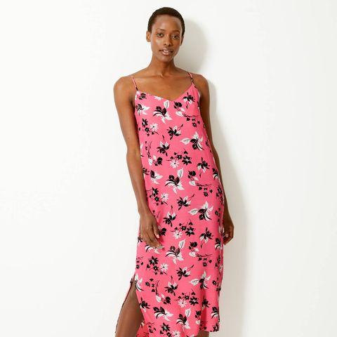 marks and spencer pink slip dress