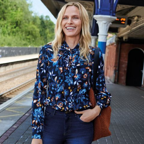 M&S launches perfect pussybow floral blouse for autumn