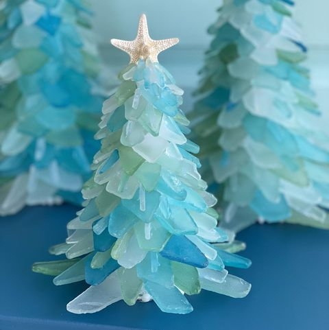 These Sea Glass Christmas Trees Will Transform Your Home ...