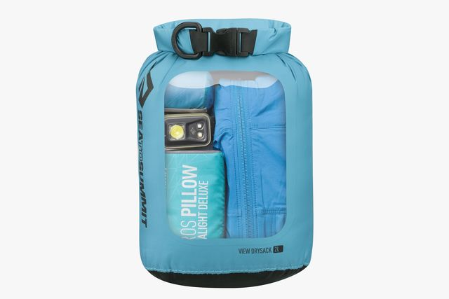 a dry bag with a see through panel