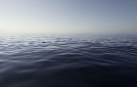 Sea view in a calm and quiet day
